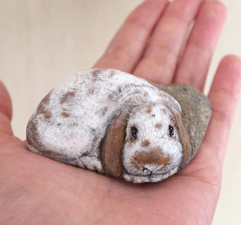 Японская художница творит чудеса и камни в руках оживают