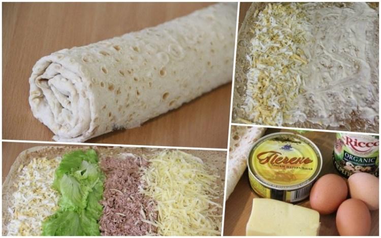 Если хотите нежнейшей закуски быстро и вкусно, приготовьте рулет из лаваша. Чтобы потратить меньше времени, используйте готовый армянский лаваш. К нему идеально подойдет начинка для лаваша с печенью трески. Идеальный вариант закуски!