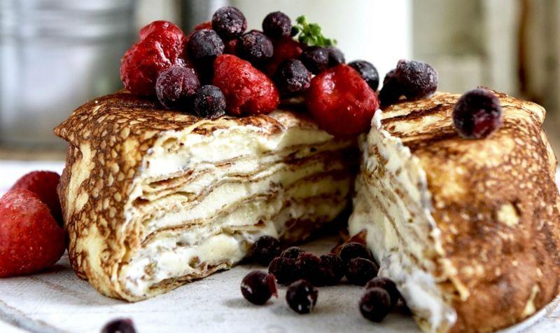 Поразительно вкусный блинный торт: творожное лакомство для настоящих гурманов