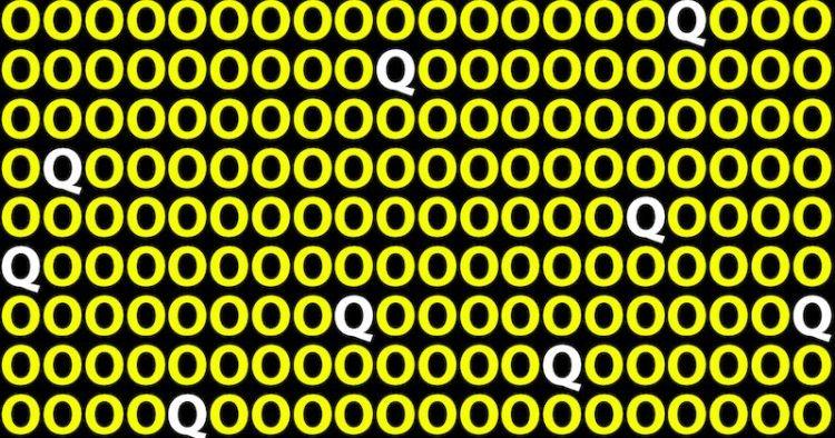 Сколько букв Q увидели: быстрый тест определит ваш уровень внимательности