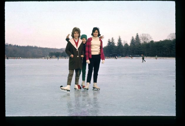 Liz, Lorraine, & Mary M. skating on Tarrytown Lakes early 1960s