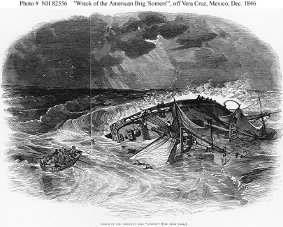 The wreck of the Somers during the Mexican War