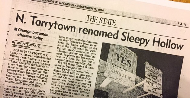 The Associated Press announces the renaming of Sleepy Hollow