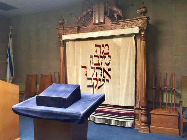 The ark from the old synagogue now in the new temple