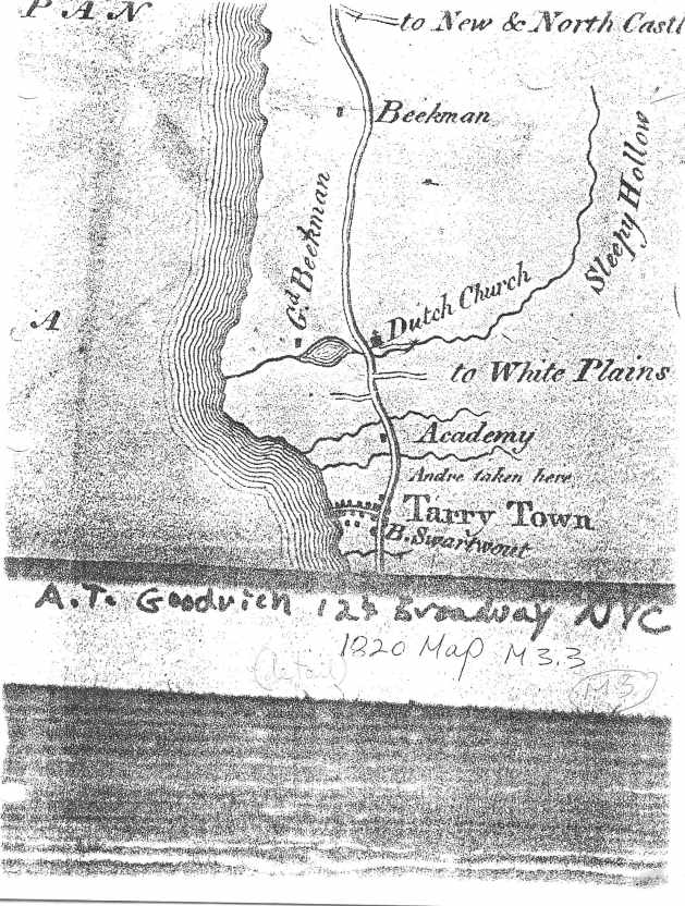 Steiner's copy of the Goodrich 1820 map from the 1980s