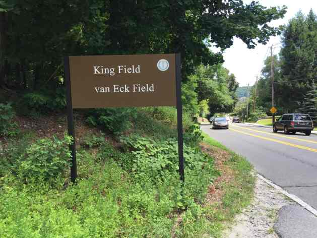 King Field sign on Benedict Ave