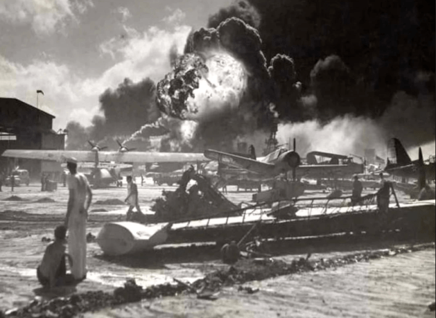 Hickam Field during Pearl Harbor attack