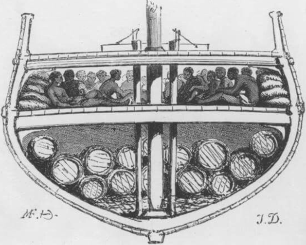 Vessel carrying enslaved people