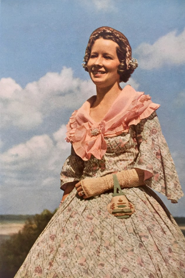 "A Southern ""belle"" in costume"
