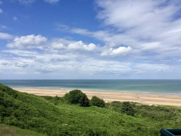 Omaha Beach as it looks today
