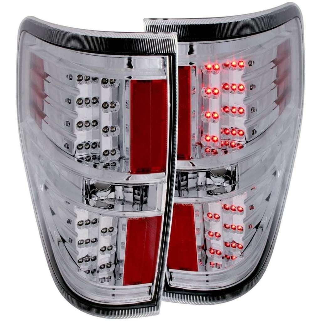 2009-2014 LED Tail Lights (Chrome)