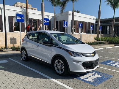 Chevrolet Bolt charging at station