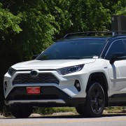 two-tone car paint on a toyota rav4 hybrid crossover suv