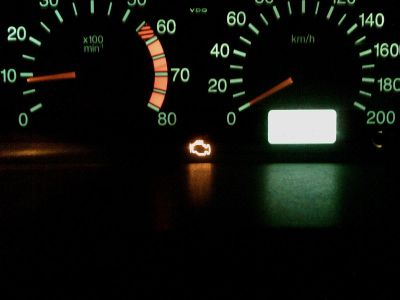 warning lights on car dash