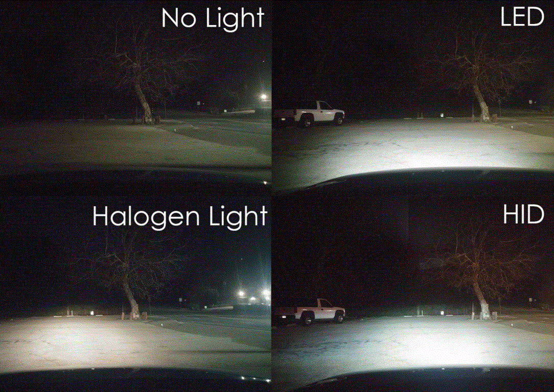 halogen led hid headlights quality comparison