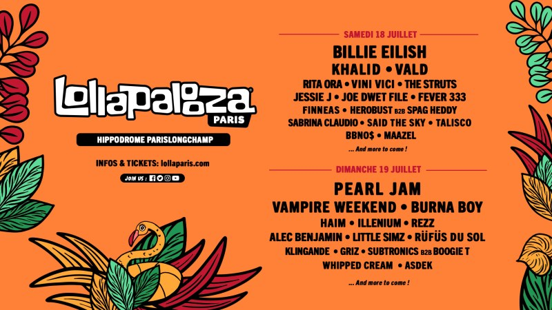 ÉVÈNEMENT: Pearl Jam en date unique en France au Lollapalooza Paris