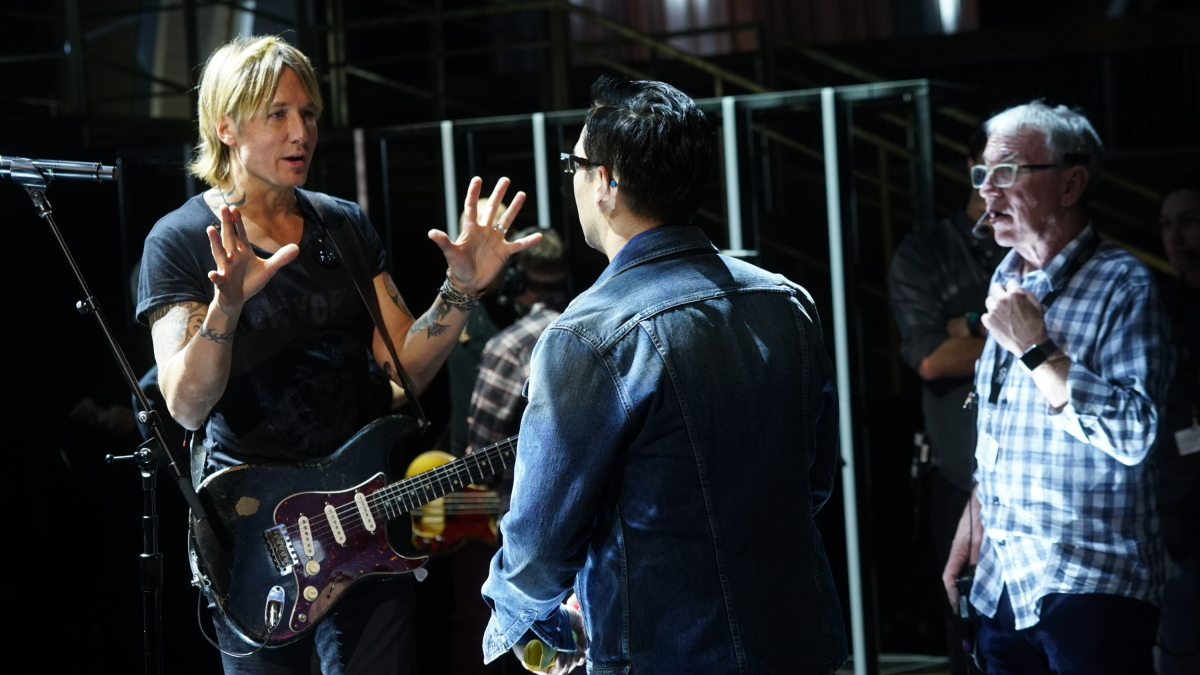 Keith Urban behind the scenes at rehearsals for THE 59TH ANNUAL GRAMMY AWARDS®, scheduled to broadcast live from the STAPLES Center in Los Angeles, Sunday, Feb. 12 (8:00-11:30 PM, live ET/5:00-8:30 PM, live PT; 6:00-9:30 PM, live MT) on the CBS Television Network. Photo: Monty Brinton/CBS ©2017 CBS Broadcasting, Inc. All Rights Reserved