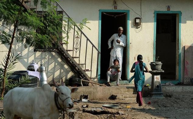Home without doors in Shani Shingnapur
