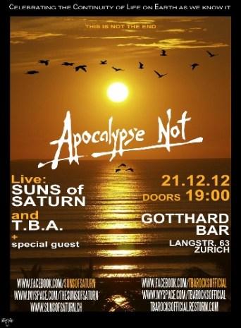 Suns of Saturn & TBA - live at Gotthard Bar - 21.12.12