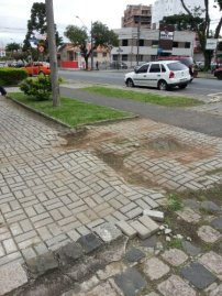 Two different types of shit paving. shit.