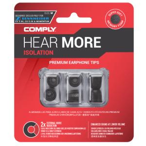 Comply Isolation Sennheiser T-167 Foam tips specially designed for Sennheiser earphones