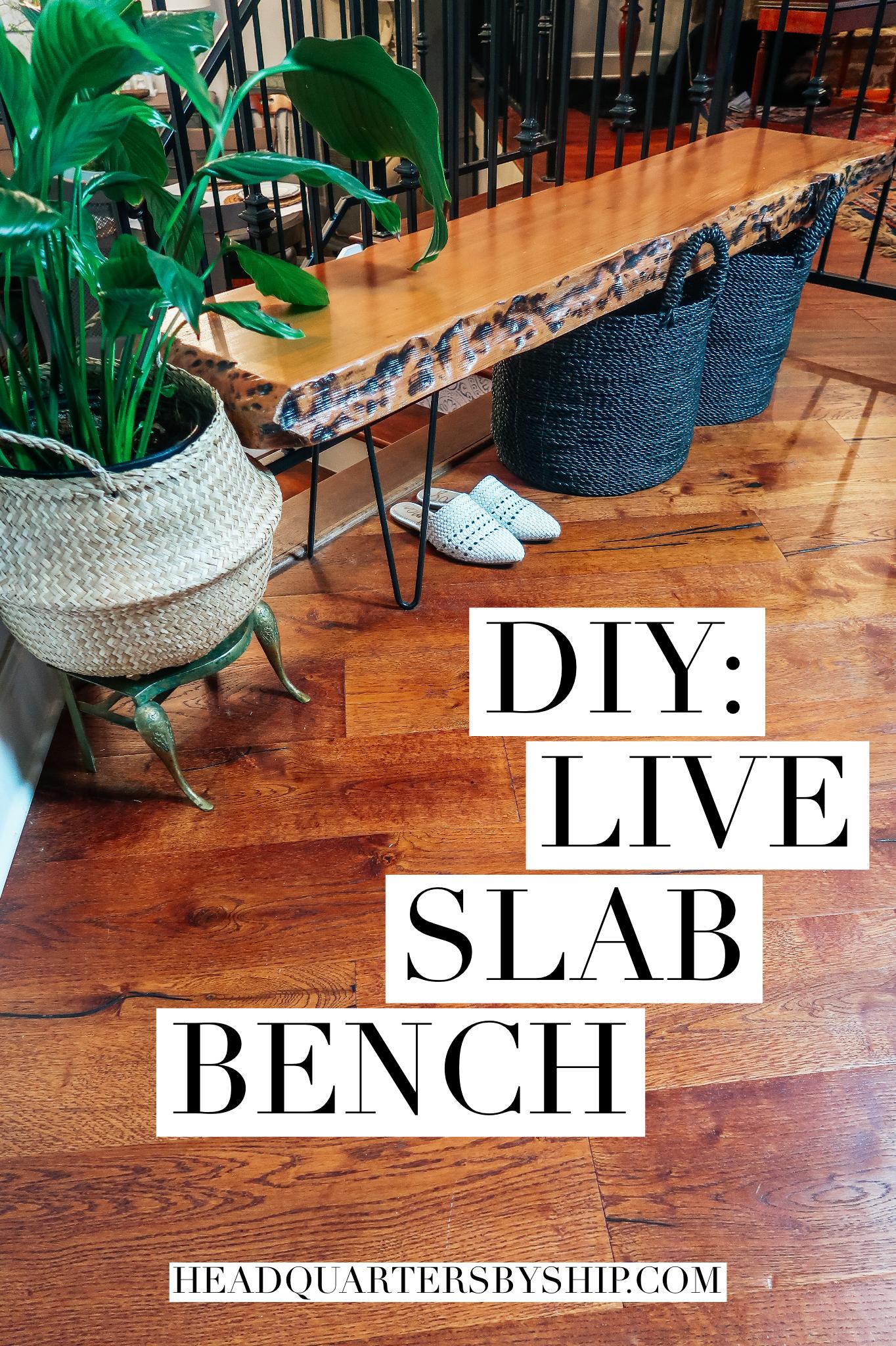 D.I.Y. | Live Slab Bench