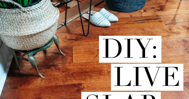 Easy Home Updates | D.I.Y. Live Slab Redwood Bench
