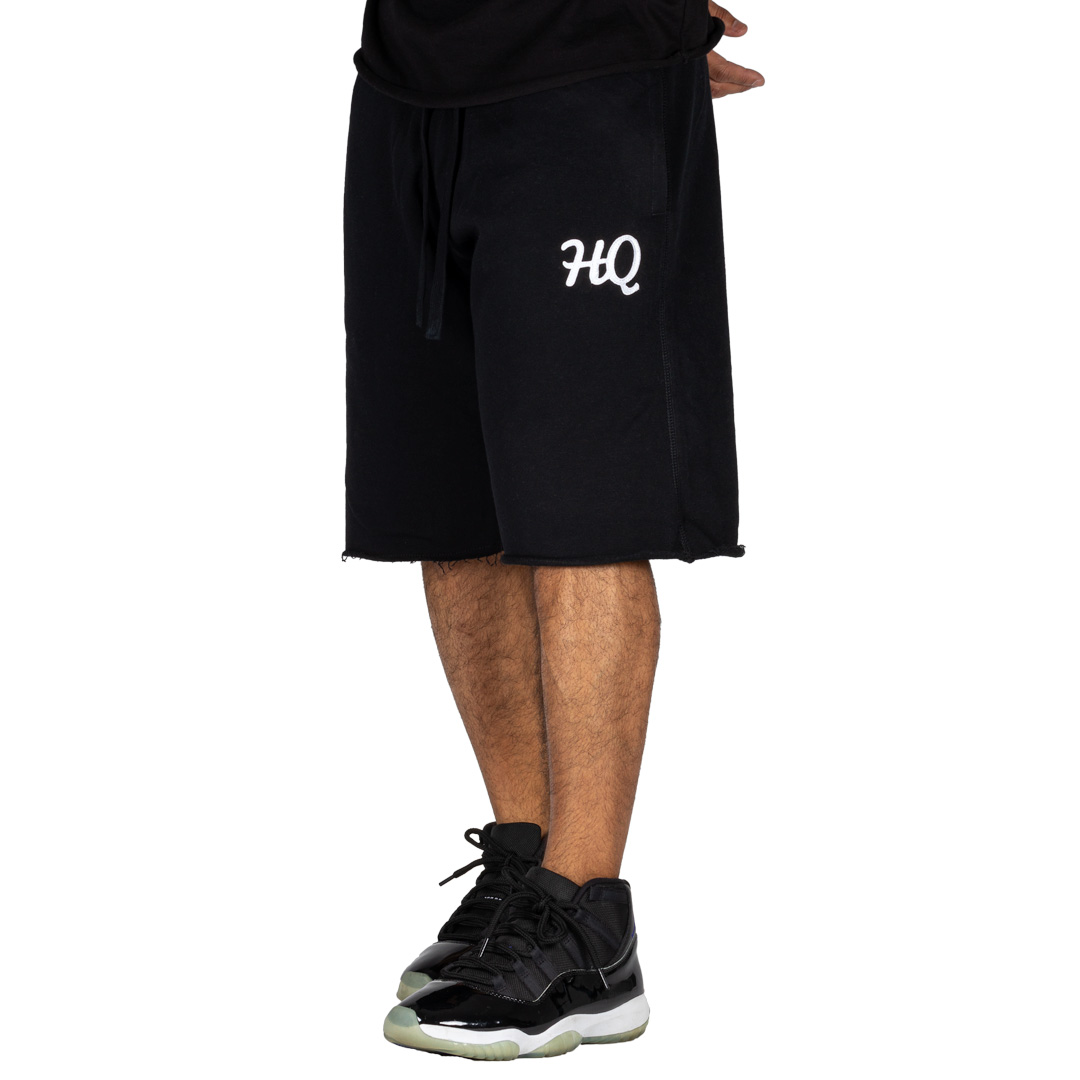 HQ Sweat Shorts Black/White