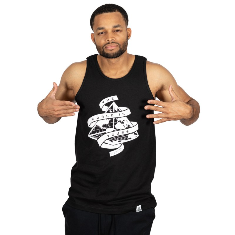 """The World is Yours"" Tank Black"