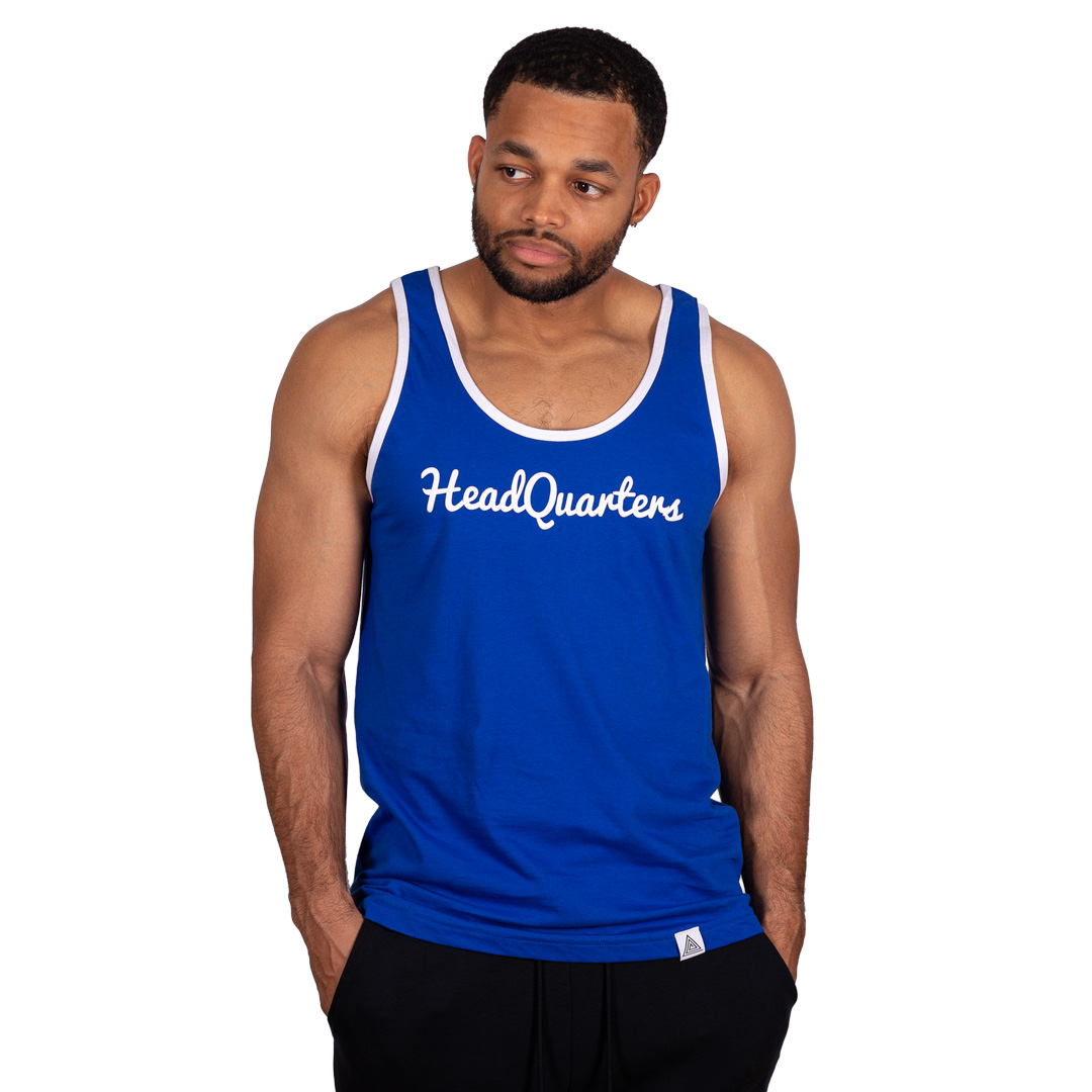 HeadQuarters Logo Tank Blue