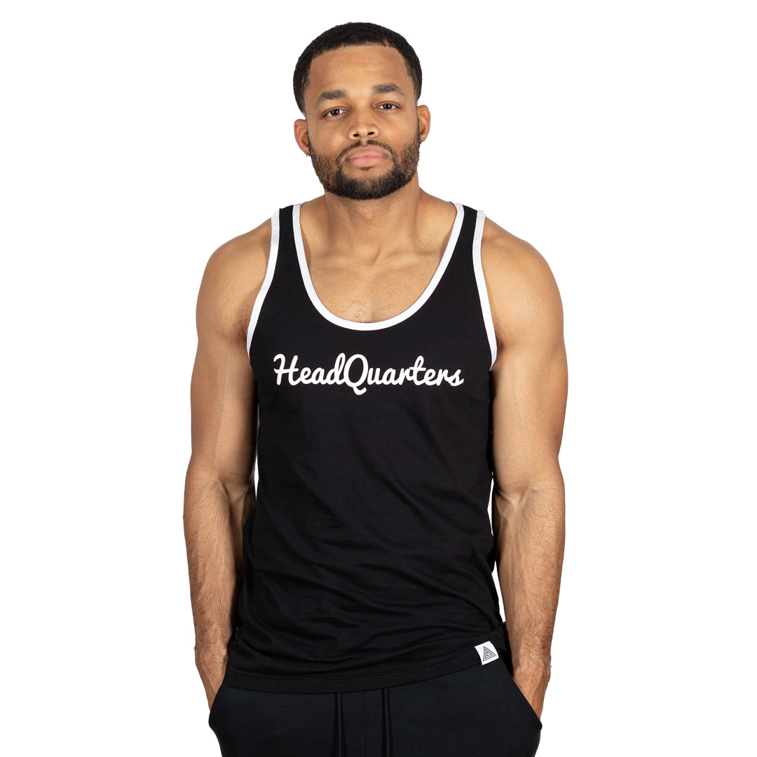 HeadQuarters Logo Tank Black