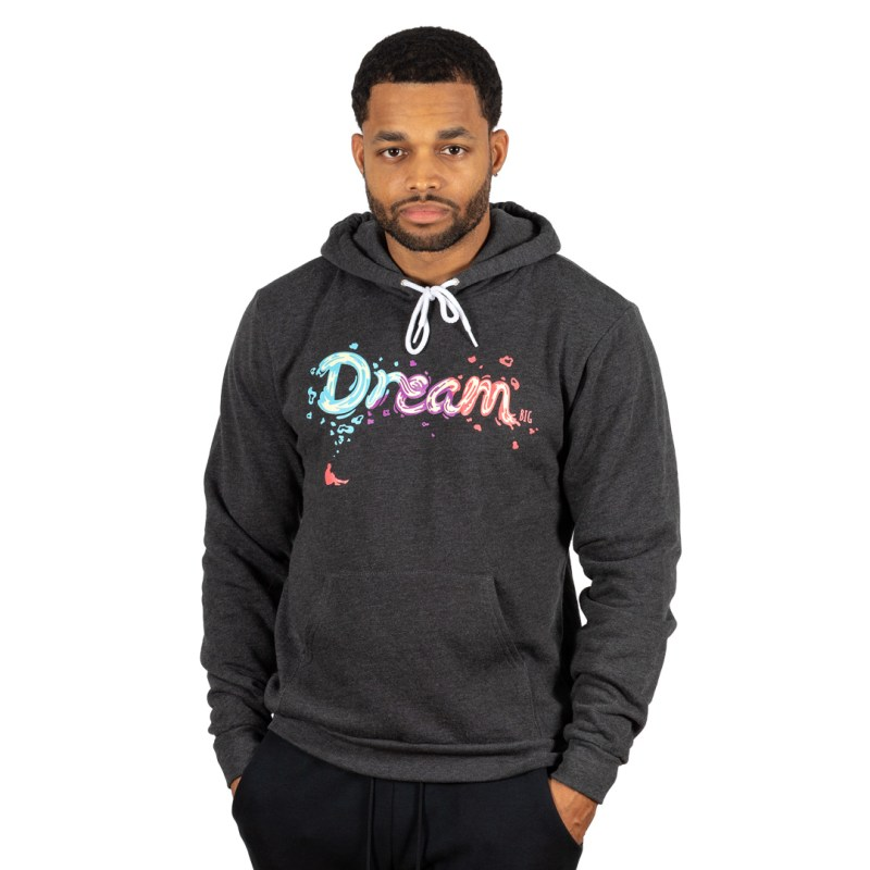 "Unisex ""Dream BIG"" Hoodie Dark Heather Grey"
