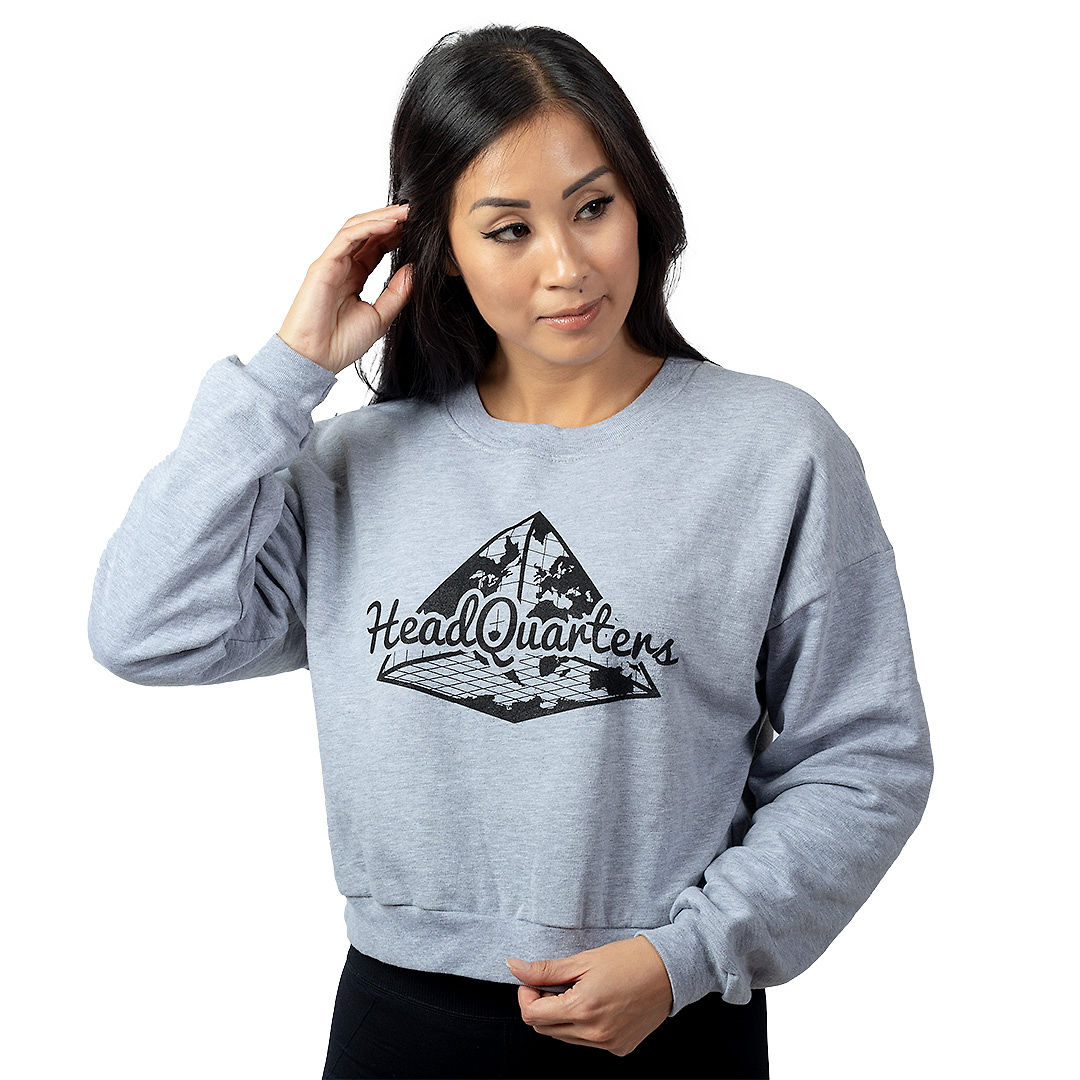 Logo Cropped Sweatshirt Grey