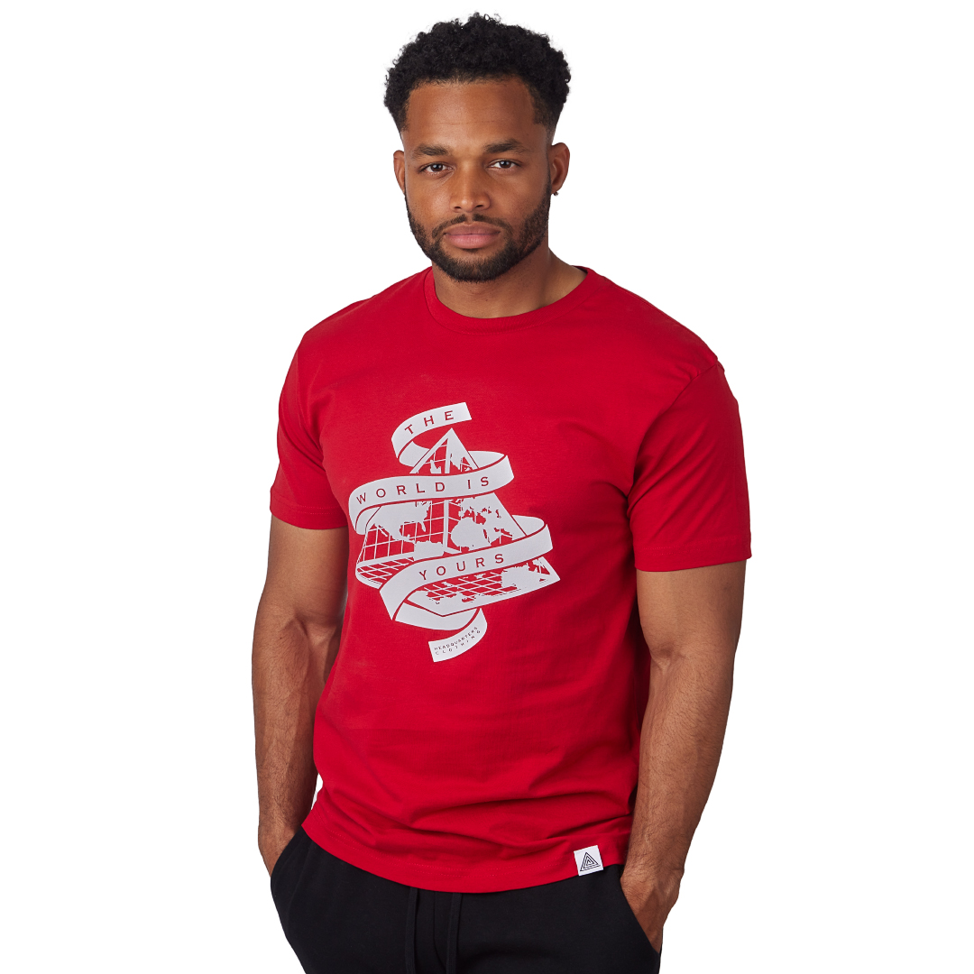 """The World is Yours"" Tee Red"
