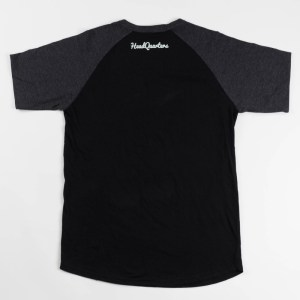 """Never Back Down"" Raglan Tee Black"