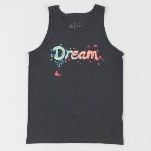 """Dream BIG"" Tank Charcoal"