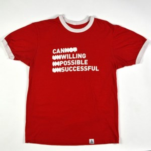 """""""Persistence"""" Tee Red"""