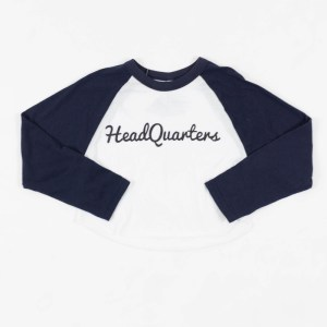 Crop-Top Raglan Logo Tee Navy