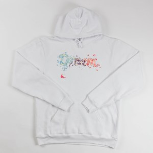 "Unisex ""Dream BIG"" Hoodie White"