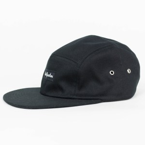 HeadQuarters Five Panel Hat Black