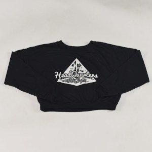 Logo Cropped Sweatshirt Black