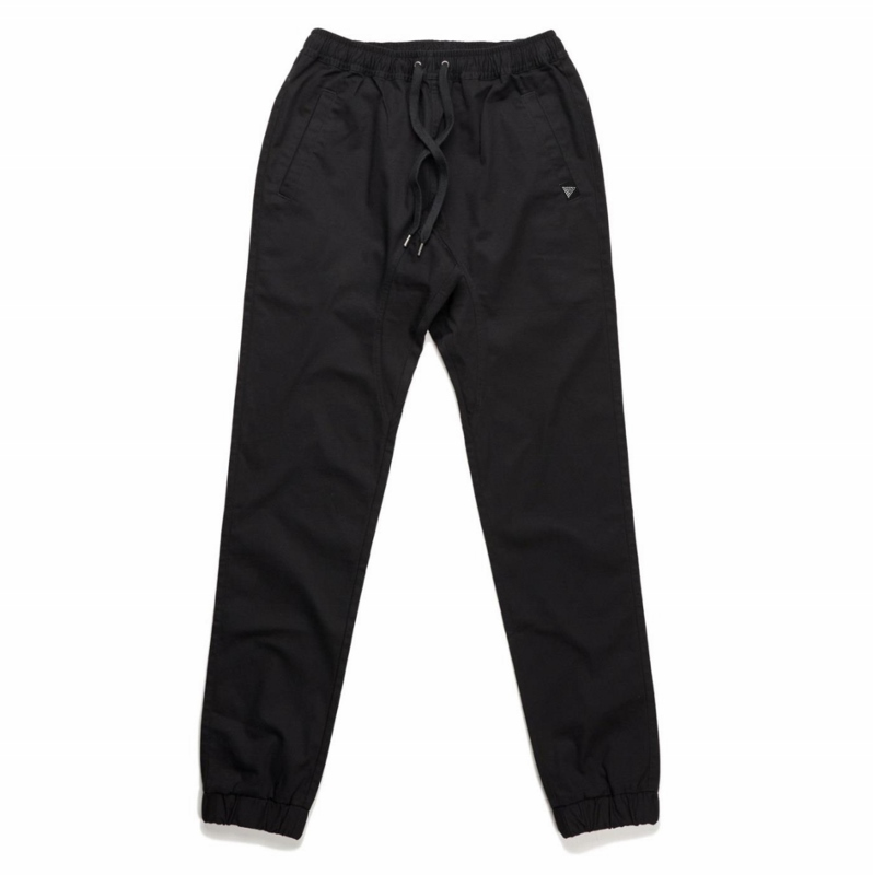 HeadQuarters Chino Joggers Black