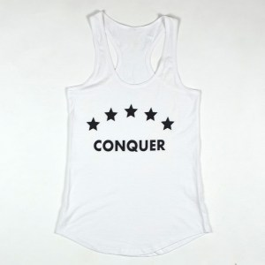 "WMNS ""Conquer"" Racerback Tank White"