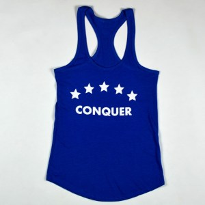 "WMNS ""Conquer"" Racerback Tank Royal Heather"