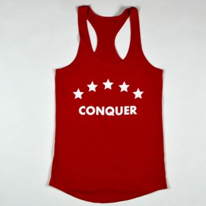 """WMNS """"Conquer"""" Racerback Tank Red"""