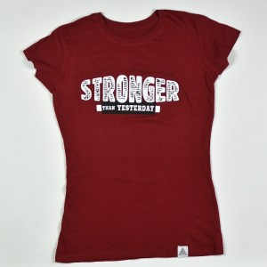 """WMNS """"Stronger Than Yesterday"""" Tee Cardinal"""