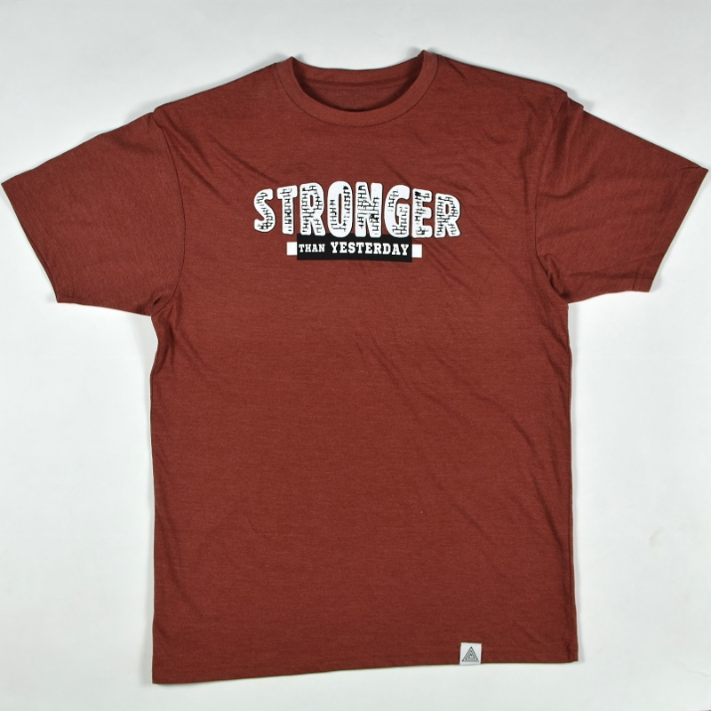"""""""Stronger Than Yesterday"""" Tee Spice Heather"""