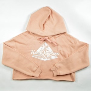 WMNS HeadQuarters Cropped Hoodie Peach