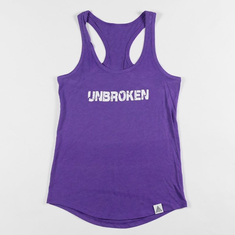 "WMNS ""Unbroken"" Racerback Tank Purple Heather"