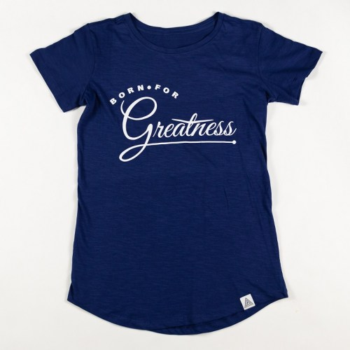 """WMNS """"Greatness"""" Scallop Tee Blue"""